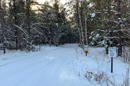 Snowmobile trails near Wigwam Lodge